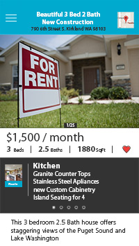 Float Home Rental Screen Simulated