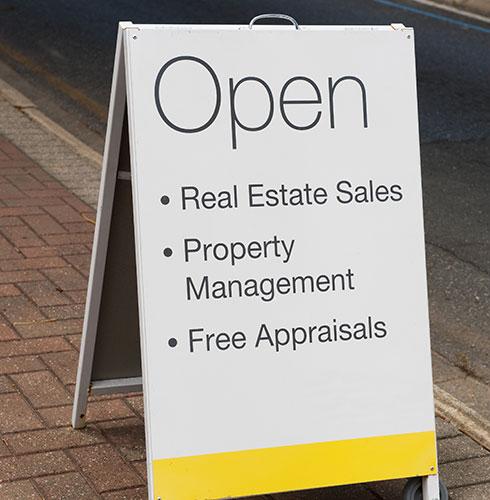 Real Estate Office Open Sandwich Board
