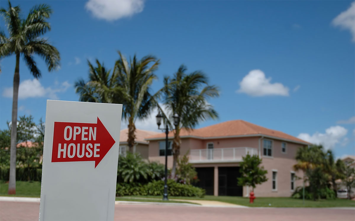 Open House Street Sign